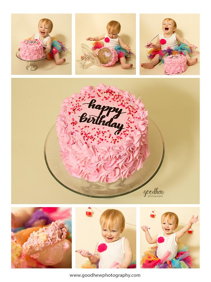 Jackson, Michigan - Baby's first year photography plan cake smash