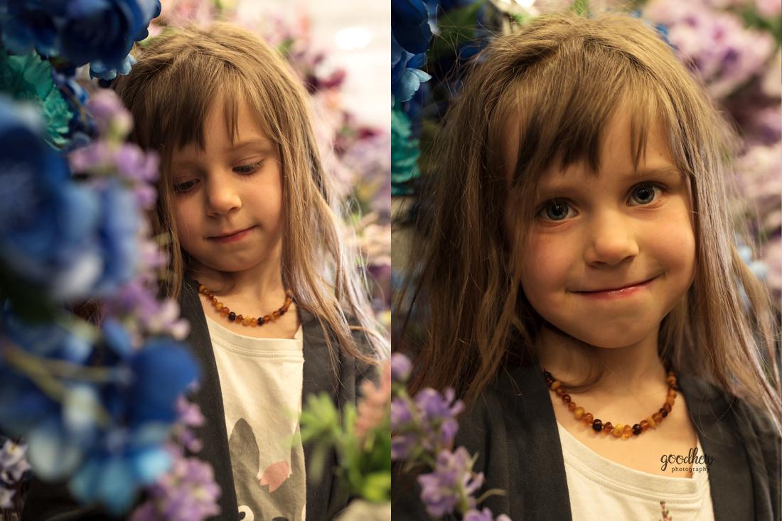 Ann Arbor Children's Portraits - #MichaelsChallenge - Little girl in the floral aisle