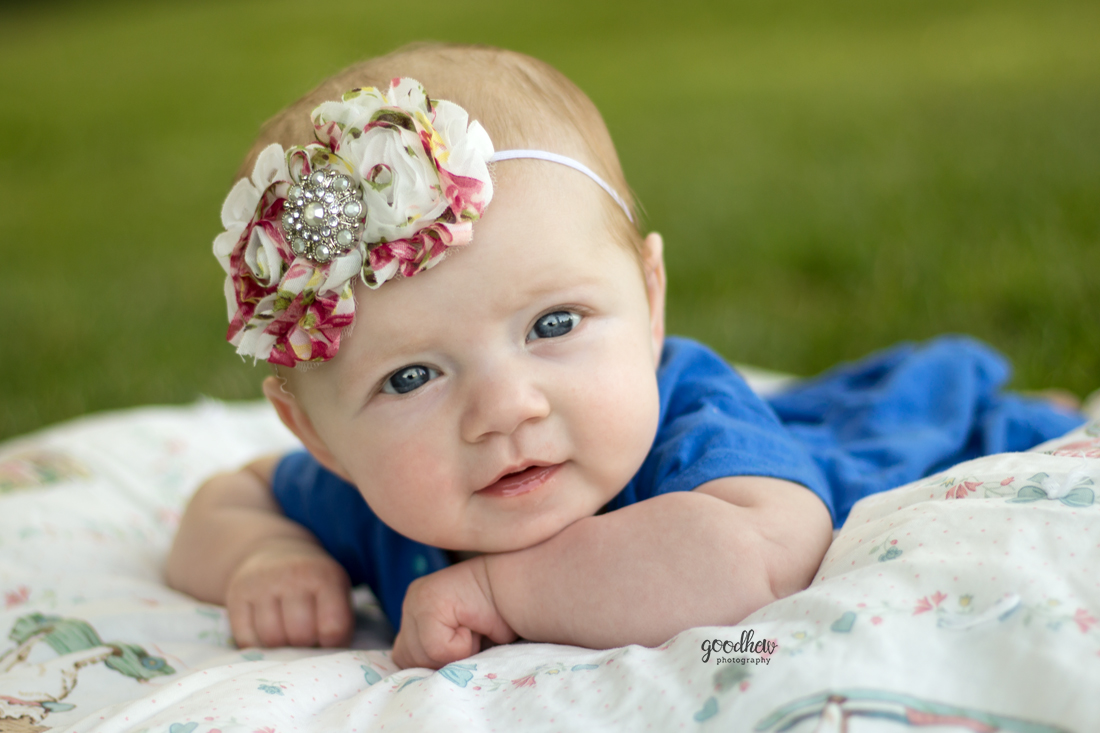 Milestone Baby Portraits - Millpond Park - Goodhew Photography