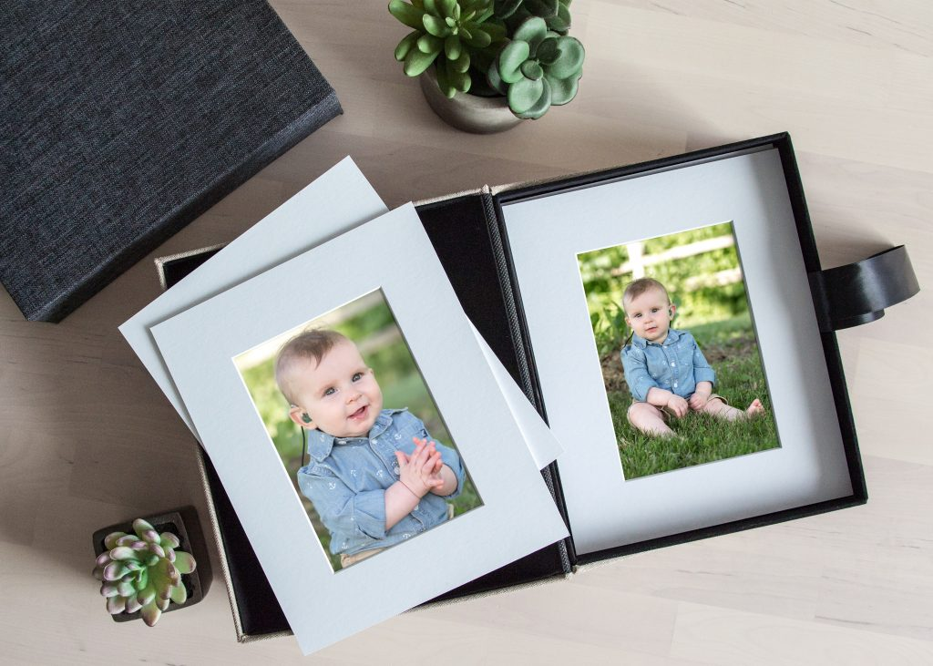 Jackson, Michigan Baby Photographer - Matted Prints in Folio Box